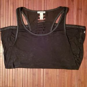 Forever 21 sheer black workout tank top